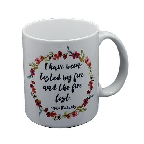Ann Richards Tested By Fire Quote coffee mug - wholesale set of 2