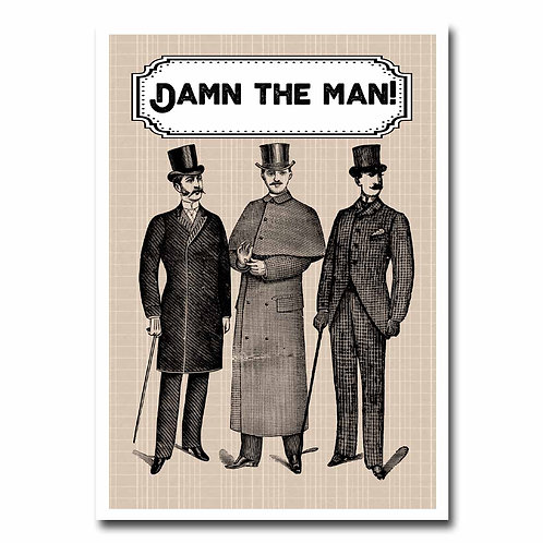 Damn the Man Greeting Card - 6 pack Wholesale