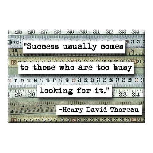 Henry David Thoreau Magnet -Set of 3