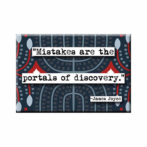 James Joyce Mistakes Are the Portals Quote Magnet- Set of 3