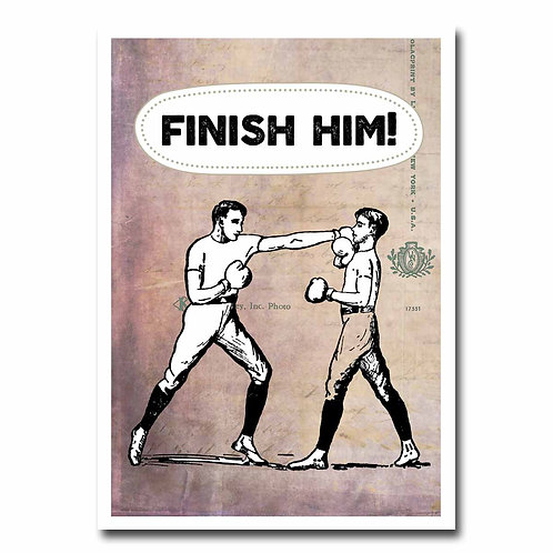 Finish Him Greeting Card - 6 pack Wholesale