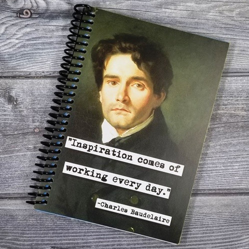Charles Baudelaire Notebook- Set of 2 Wholesale