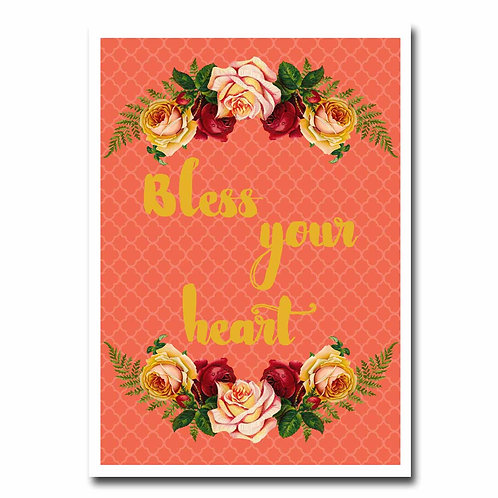 Bless Your Heart Greeting Card - 6 pack