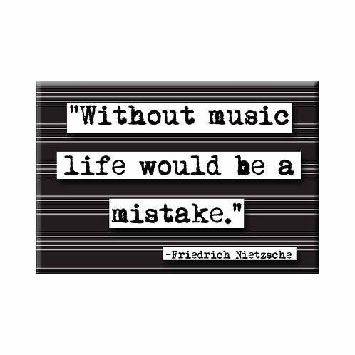 Friedrich Nietzsche Music Quote Magnet - Set of 3 Wholesale