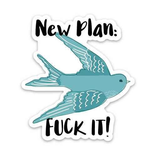New Plan Vinyl Sticker - Set of 4