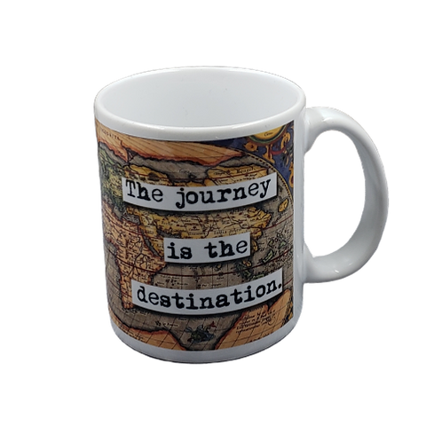 Journey is the Destination Coffee Mug -  Set of 2
