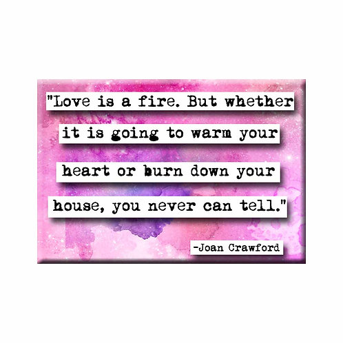 Joan Crawford Love Quote Magnet - Set of 3 Wholesale