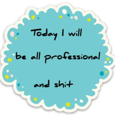 All Professional Vinyl Sticker - Set of 4