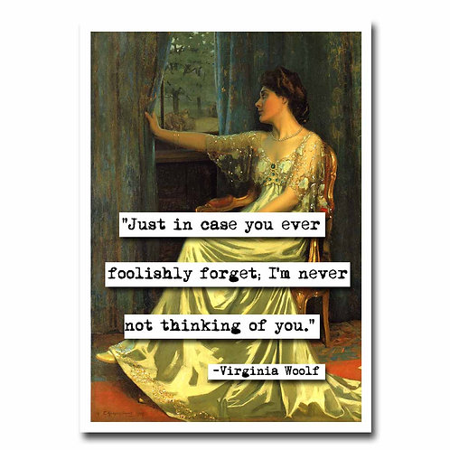 Virginia Woolf Blank Greeting Card - 6 pack