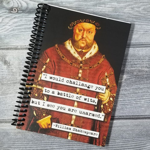 William Shakespeare Wits Notebook - Set of 2 Wholesale