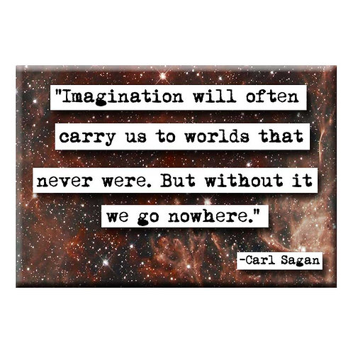 Carl Sagan Imagination Magnet - Set of 3