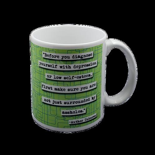 Surrounded by Assholes coffee mug - wholesale set of 2