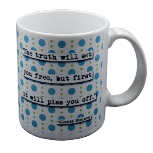 Gloria Steinem Coffee Mug - Set pf 2
