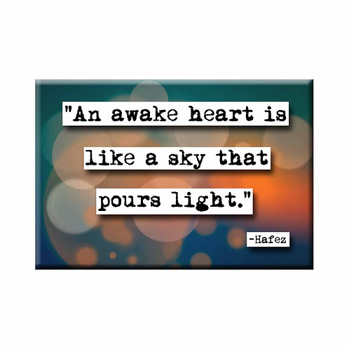 Hafiz Awake Heart Quote Magnet - Set of 3 Wholesale