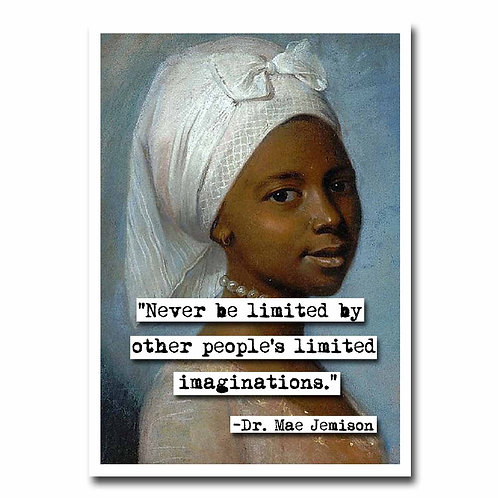 Dr. Mae Jemison Imagination quote Blank Greeting Card - 6 pack w