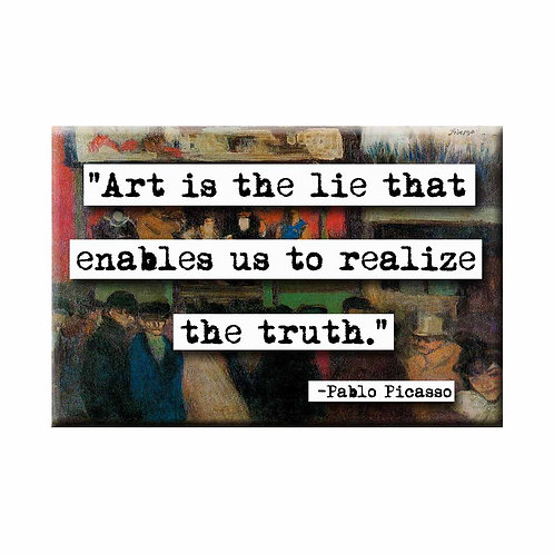 Pablo Picasso Art is the Lie Quote Magnet - Set of 3 Wholesale