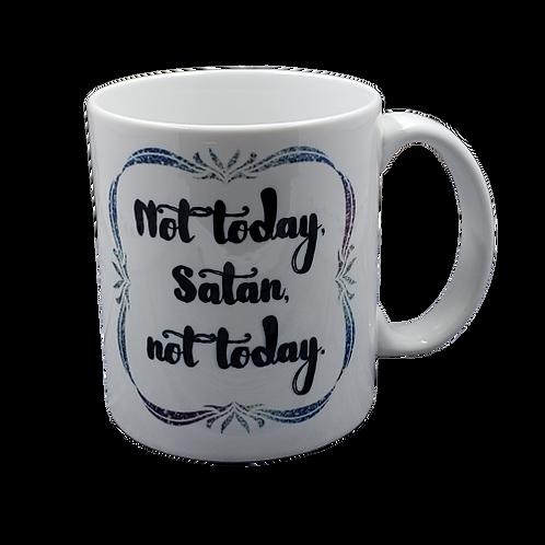 Not Today Satan Coffee Mug Set of 2