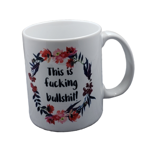 This is Fucking Bullshit coffee mug - wholesale set of 2