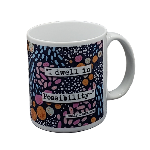 Emily Dickinson I Dwell in Possibility coffee mug - wholesale set of 2