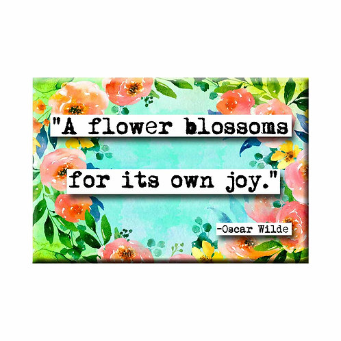 Oscar Wilde Flower Blossoms Quote Magnet - Set of 3 Wholesale