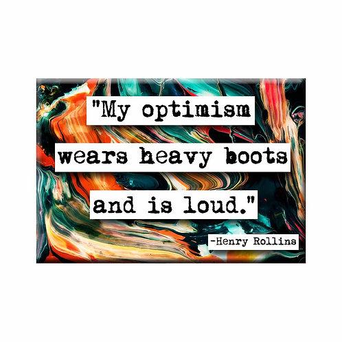 Henry Rollins Optimism Quote Magnet - Set of 3