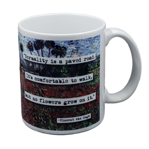 Vincent van Gogh Normality Quote coffee mug - wholesale set of 2
