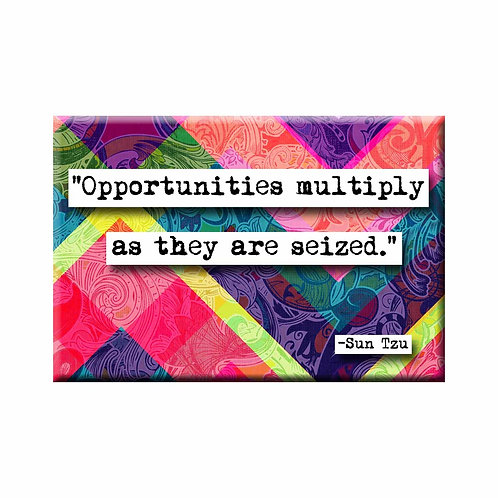 Sun Tzu Opportunities Quote Magnet - Set of 3 Wholesale