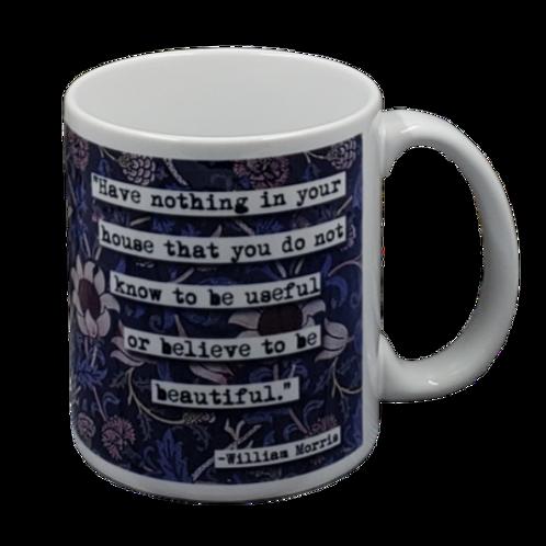 William Morris Quote coffee mug - wholesale set of 2