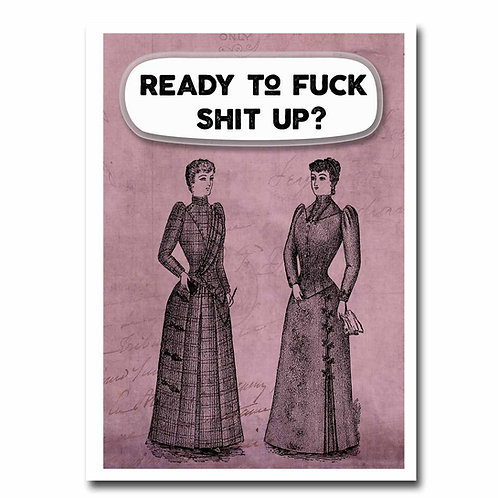 Ready To Fuck Shit UP Greeting Card - 6 pack Wholesale