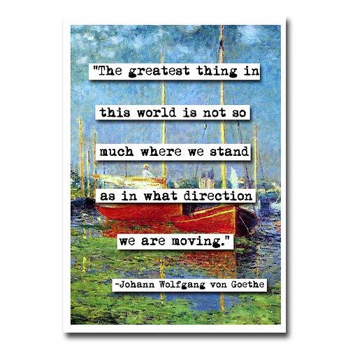 Johann Wolfgang von Goethe Blank Greeting Card - 6 pack