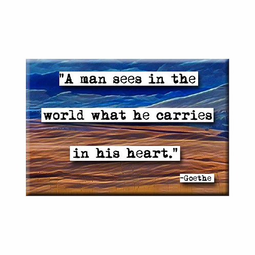 Goethe Sees in the World Quote Magnet - Set of 3 Wholesale