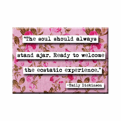 Emily Dickinson Experience Quote Magnet- Set of 3 Wholesale