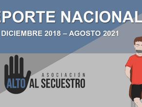 DISMINUCIÓN DE SECUESTRO EN EL MES DE AGOSTO 2021