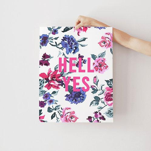 Personalised Ink Floral Print