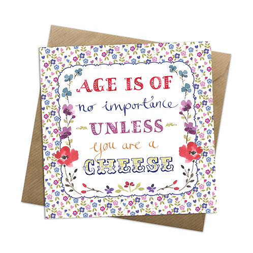 Aged Cheese Card