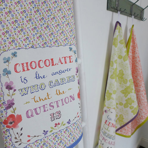 Chocolate is the Answer Tea Towel