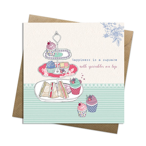 Happiness is a Cupcake Card
