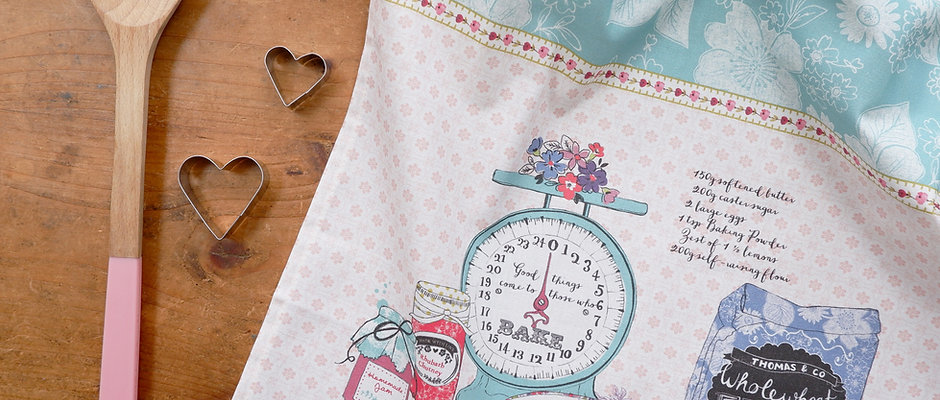 Baked with Love Tea Towel