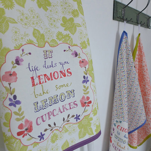 Lemon Cupcakes Tea Towel