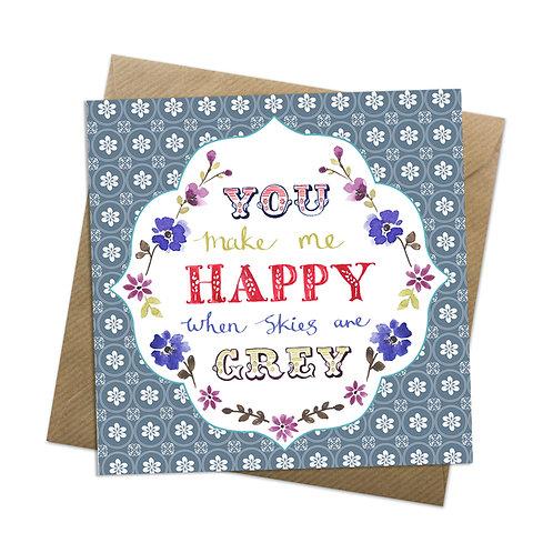 Grey Skies Card