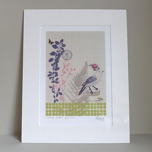 Teacup Warbler Artprint