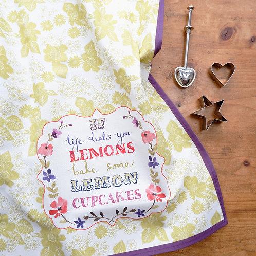 Lemon Cupcakes Tea Towel