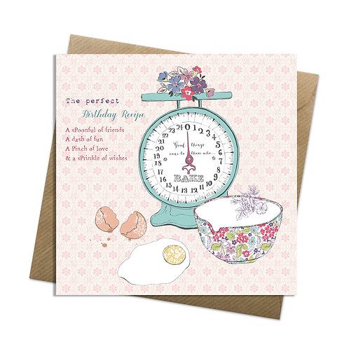 Birthday Recipe Card