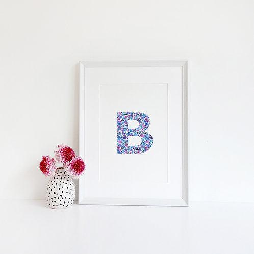 Bespoke Ditsy Floral Letter Print