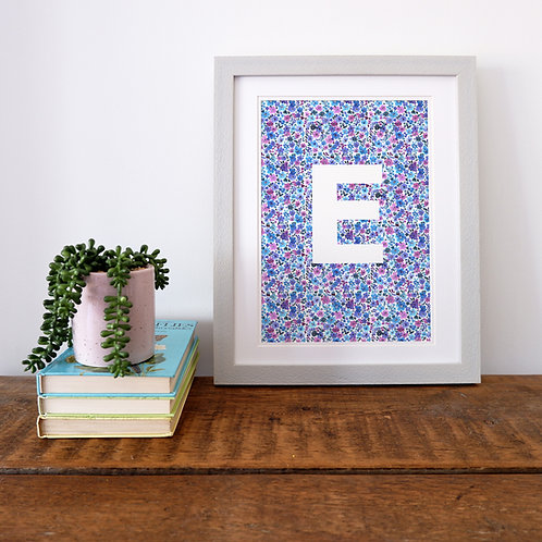 Personalised Ditsy Letter Print