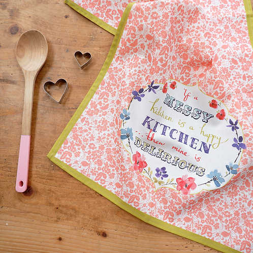 Happy Kitchen Tea Towel