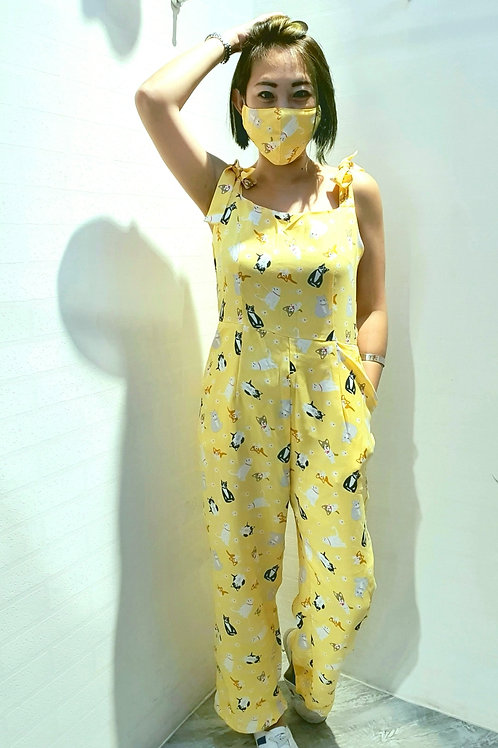 NK-078 JUMPSUITS IN YELLOW