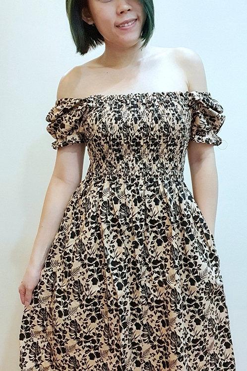 #BM11D Babydoll Dress In Kaki