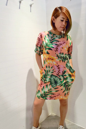 Floral Long Sleeve Jersey Dress