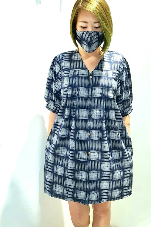 #068 Tunic Blouse In  Blue